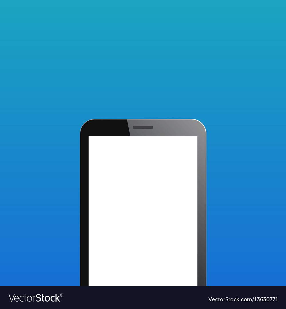 Smartphone copyspace on blue background