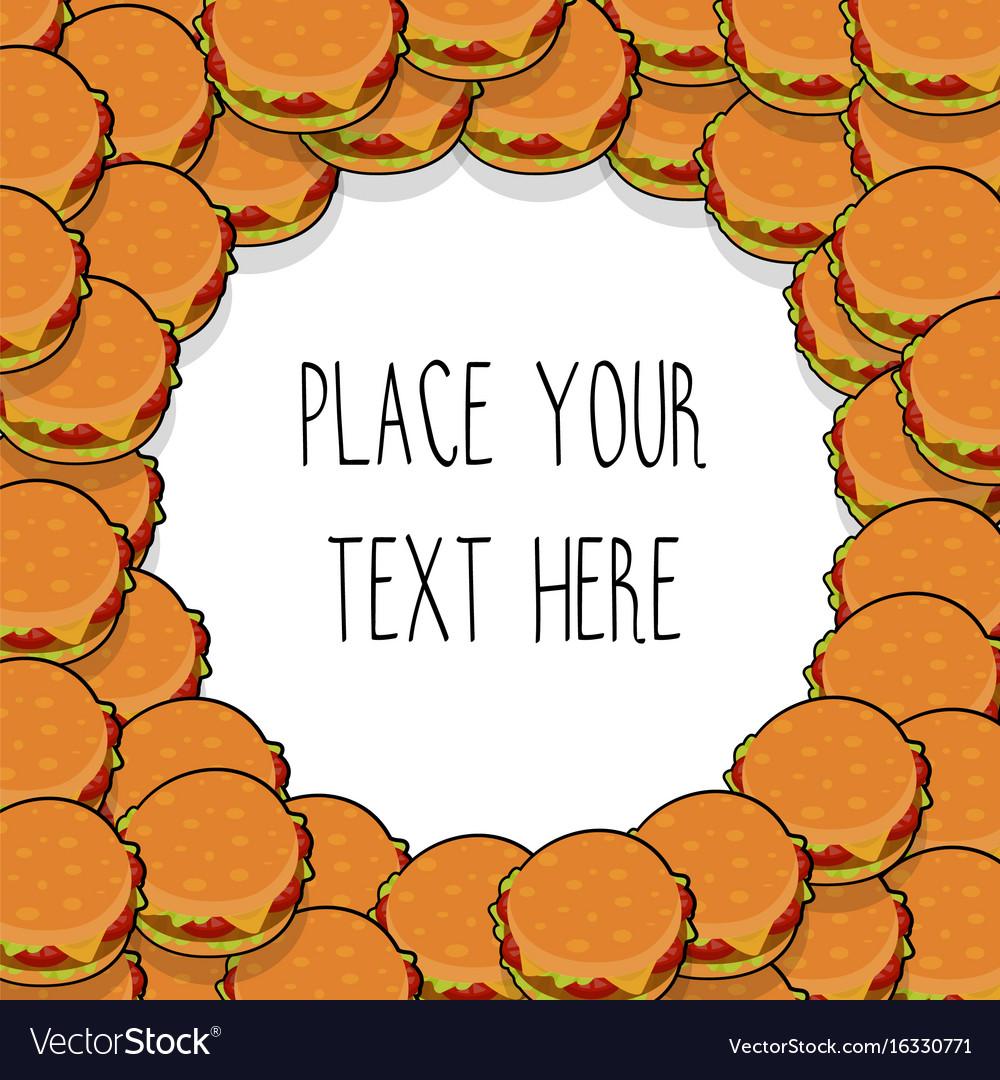 Template with many hamburgers