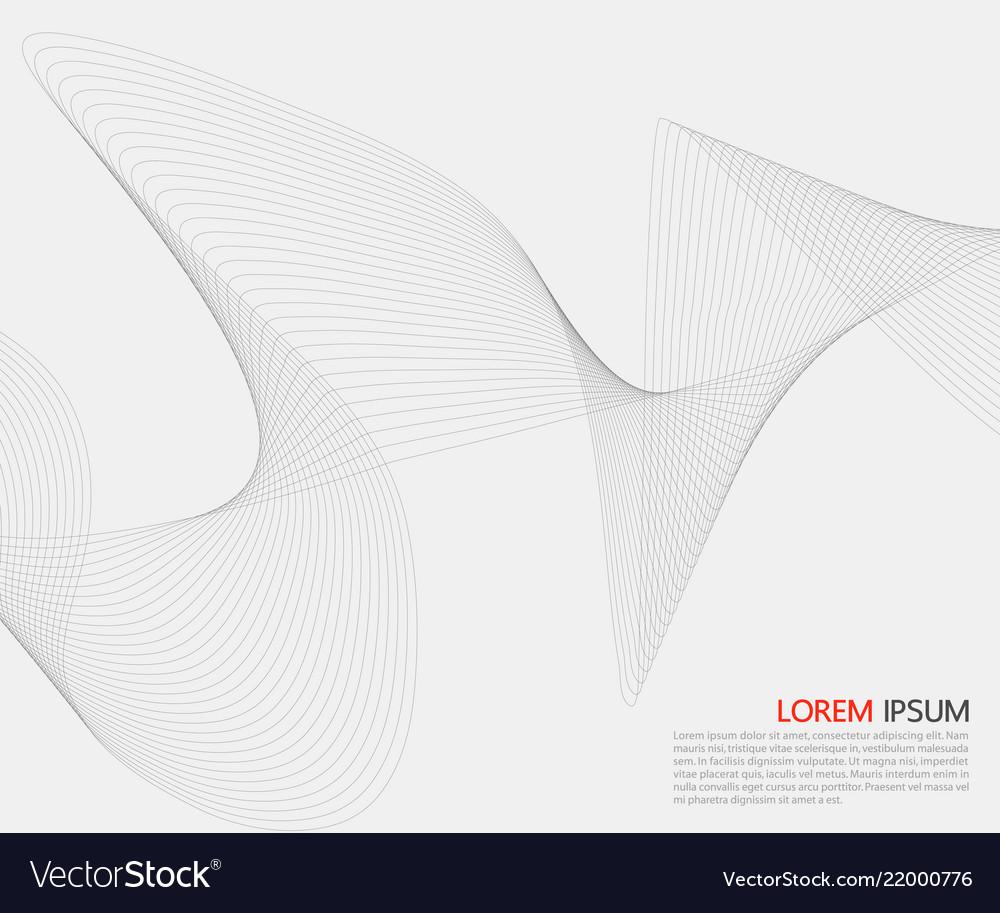 Abstract smooth gray wave line gray smoke