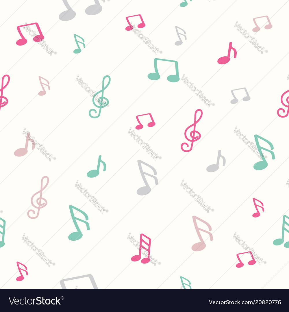 Colorful music note pattern