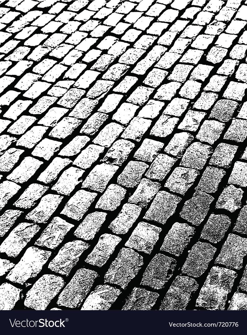 Old brick walkway vector image