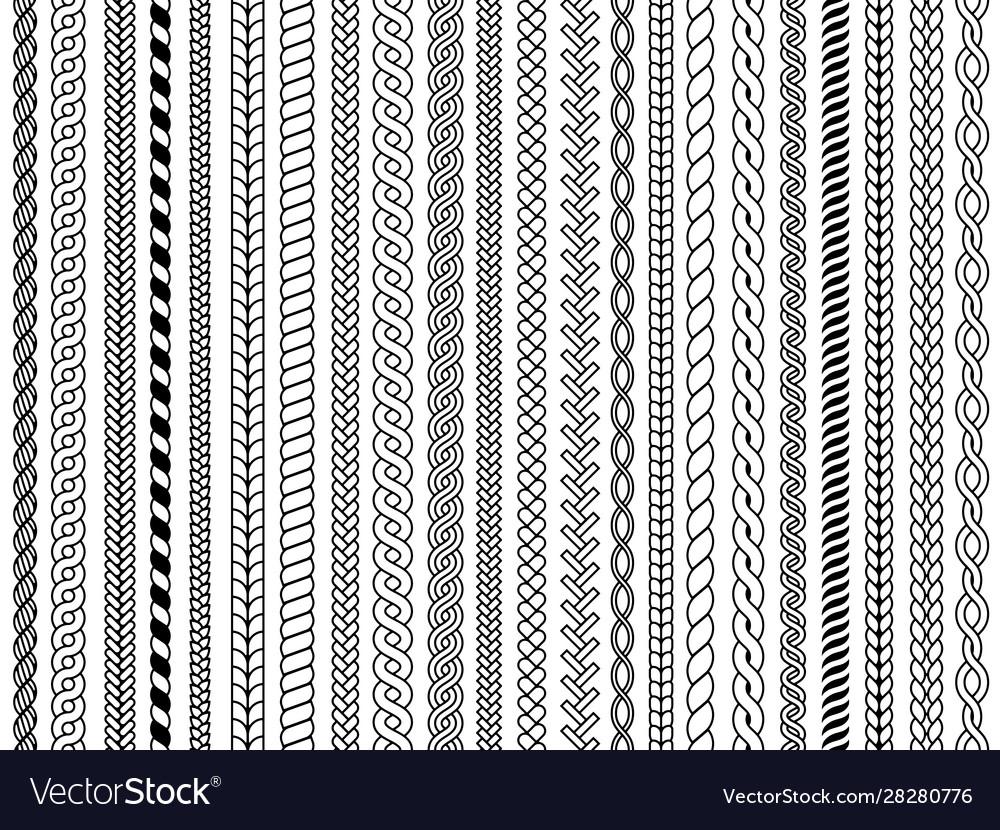 Plaits pattern ornamental braids knitting cable