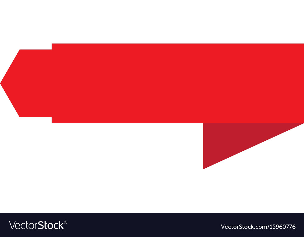 Red banner ribbon icon on white background banner vector image