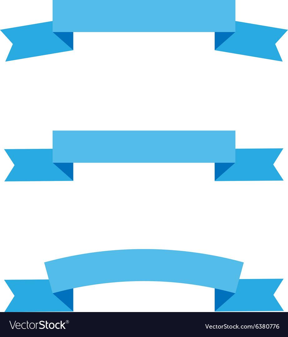 Ribbon flat style set