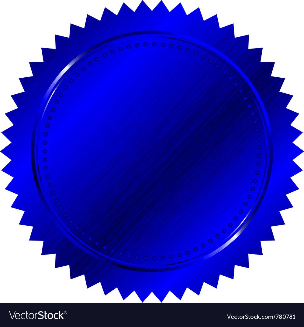 blue seal royalty free vector image vectorstock rh vectorstock com sea vector seal victor #60954