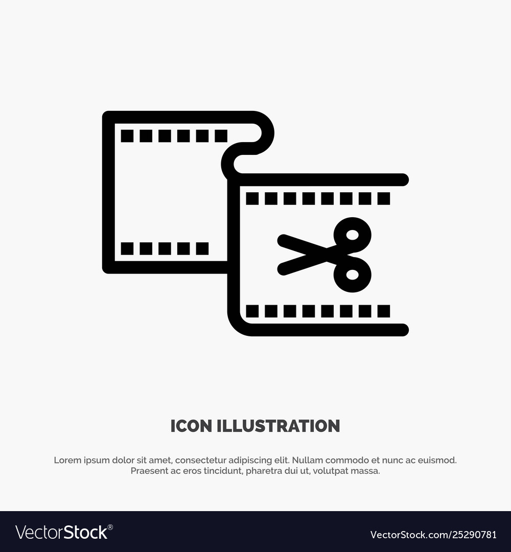Clip cut edit editing movie line icon