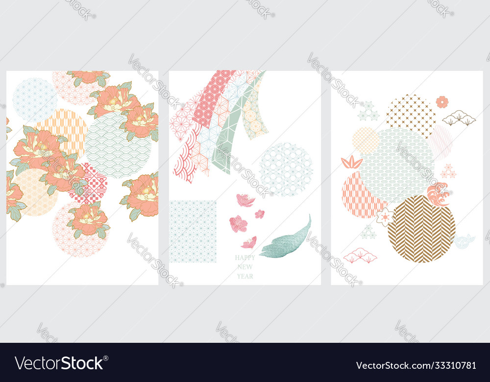 Japanese template flower icon with japanese
