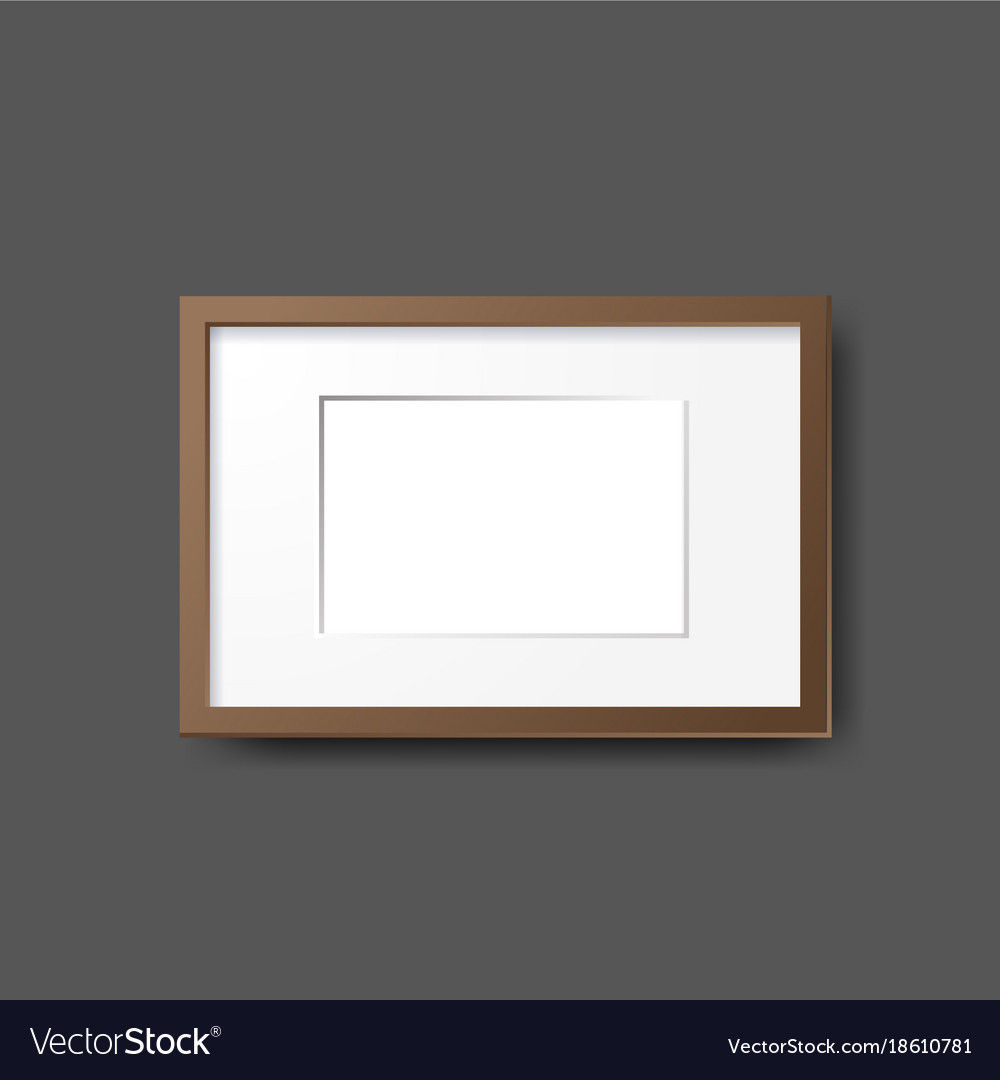Mockup modern empty frames on wall layout vector image