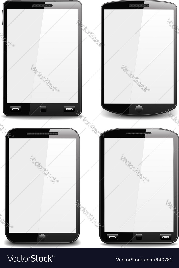 Modern Black Smart Phones vector image