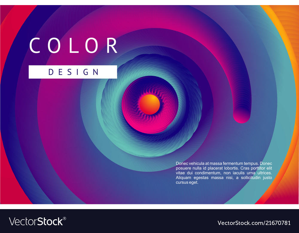 Presentation cover with spiral lines and vibrant