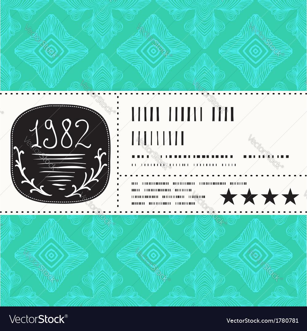 Stylization of vintage label design