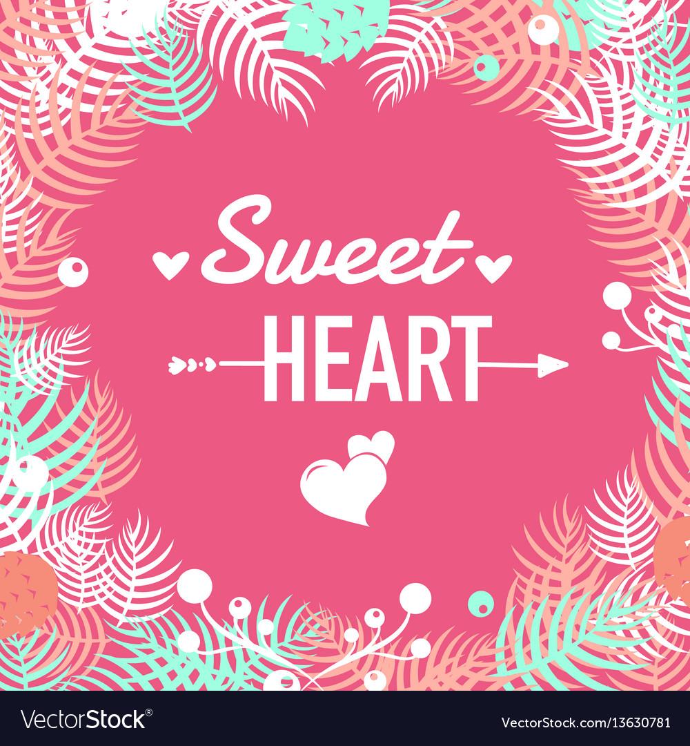 Sweet heart design elements vector image