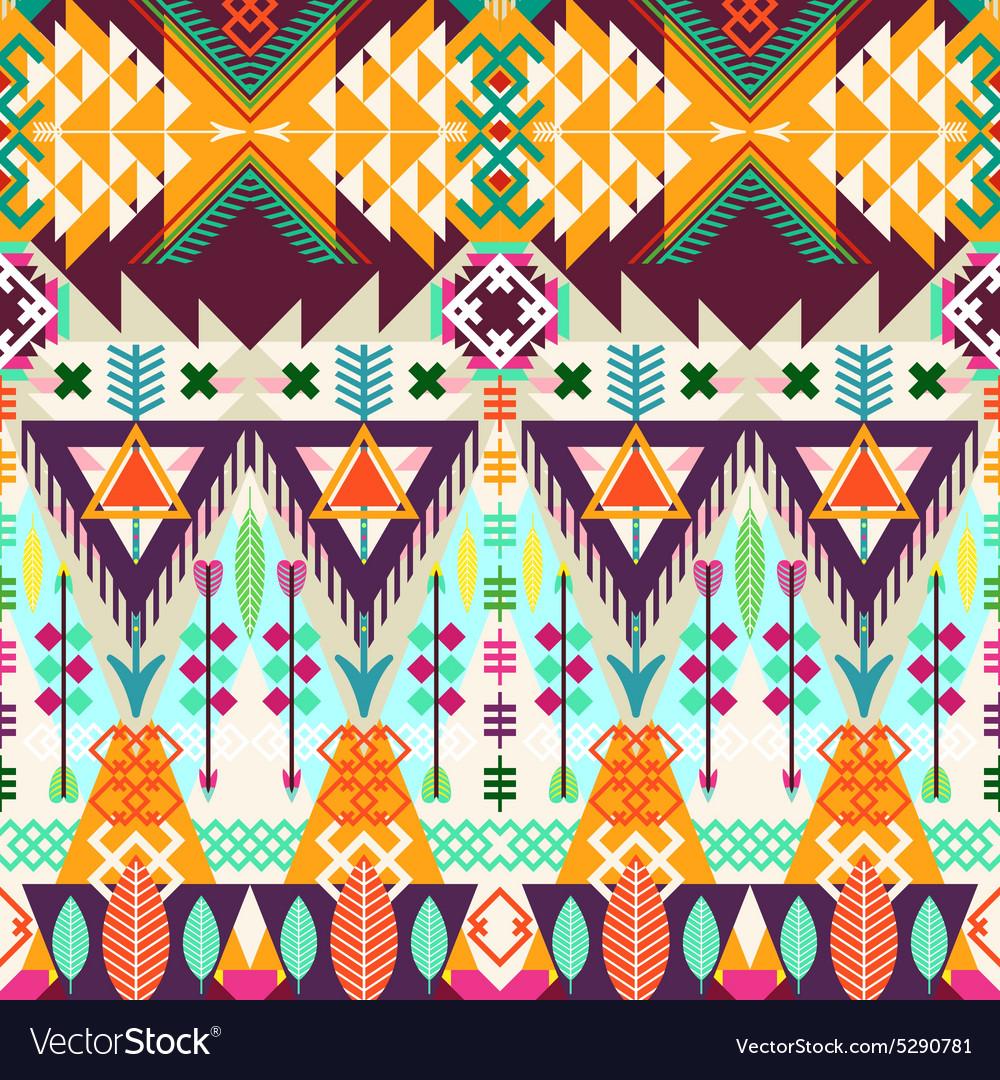 Tribal seamless background
