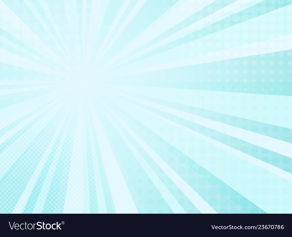 Abstract sunny radiance pattern of comic halftone