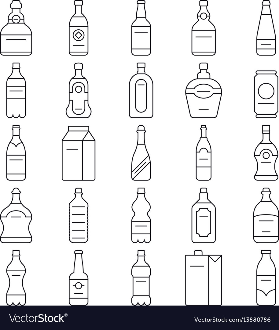 Alcohol drink bottles and beverage line