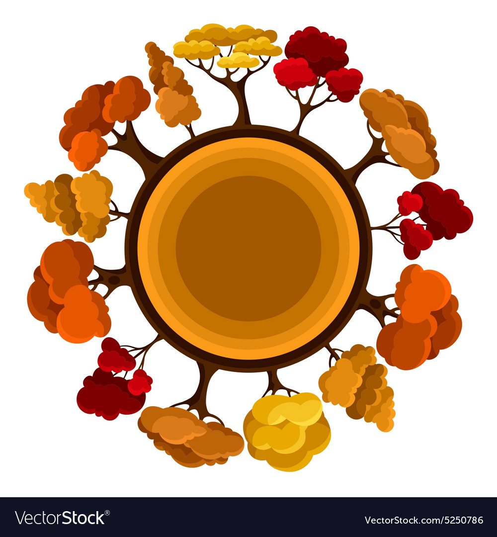 Autumn background design with abstract stylized
