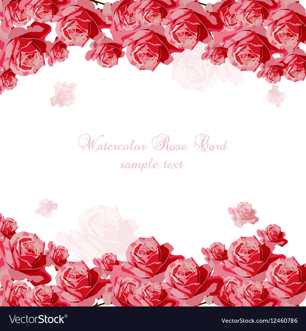 Delicate Pink Roses bouquet card