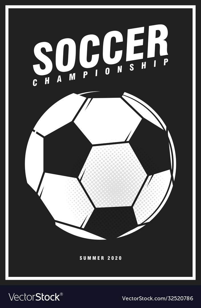 Football soccer tournament sport poster design