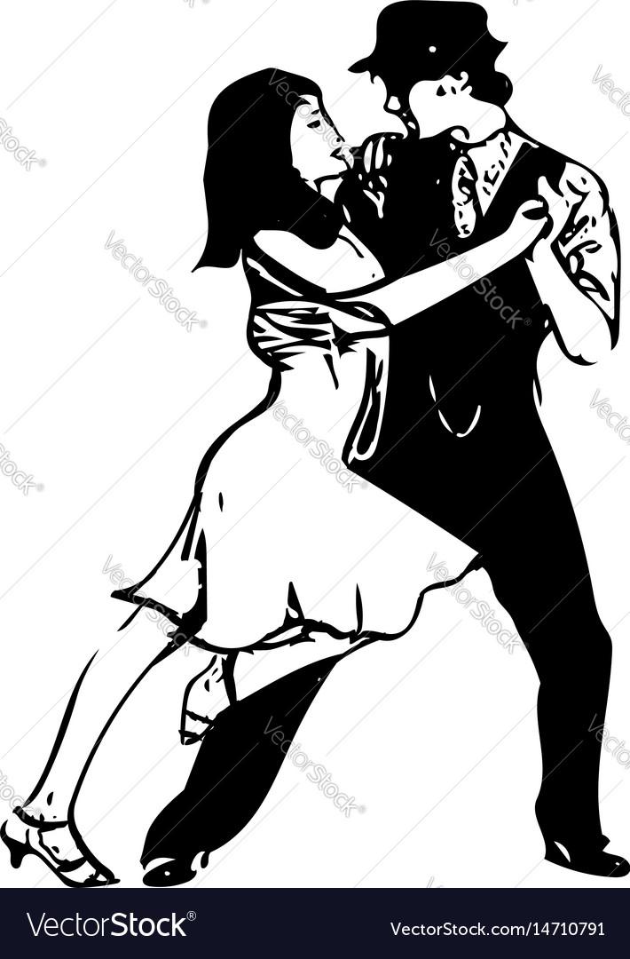 Abstract of latino dancing couple