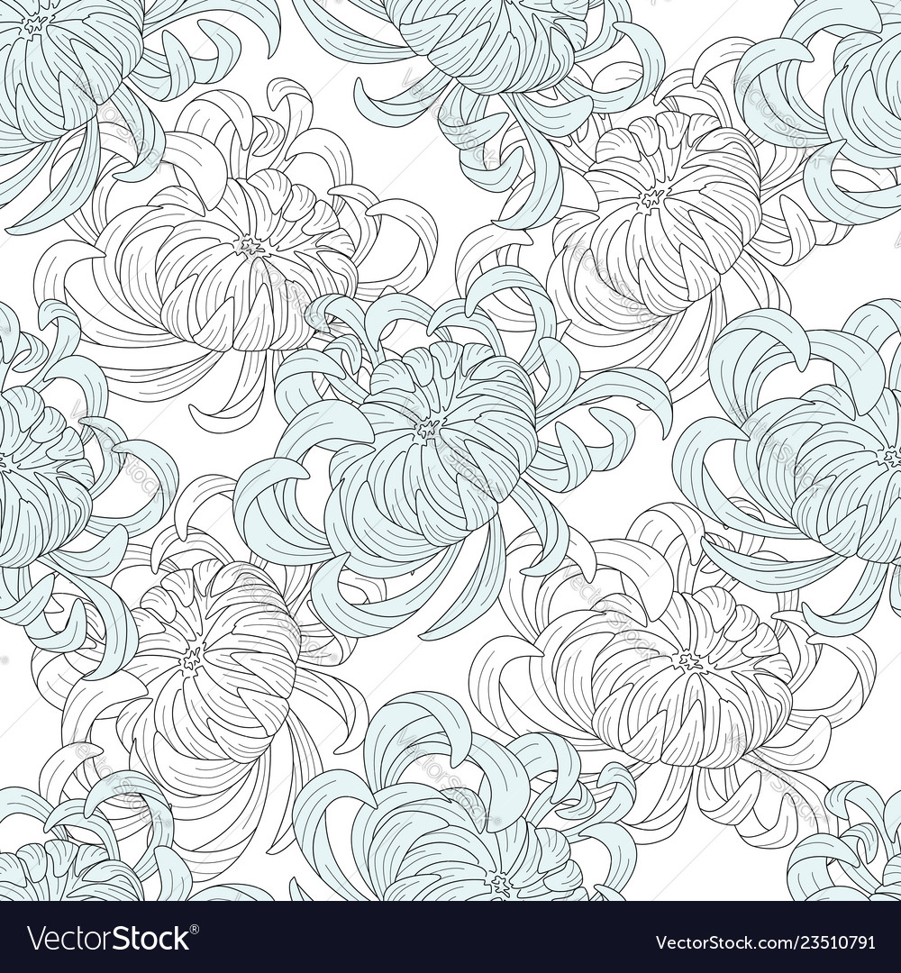 Abstract seamless floral pattern sketch pastel