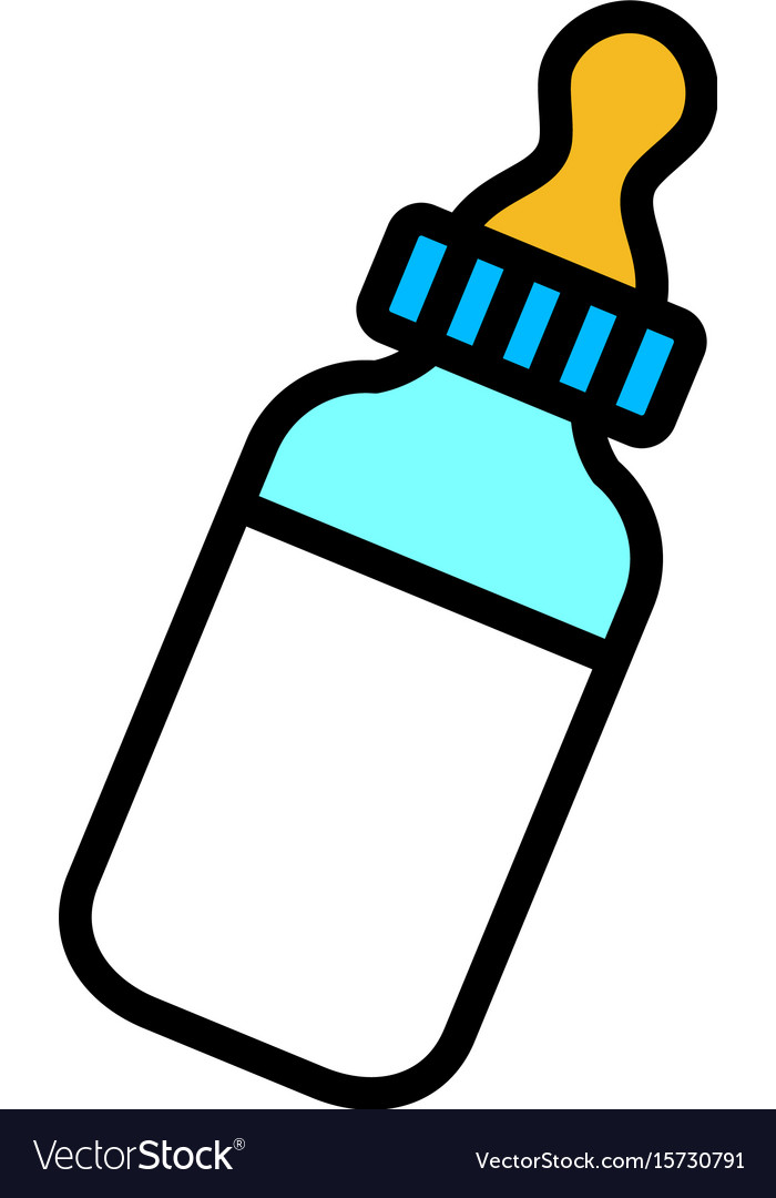 baby bottle milk icon royalty free vector image rh vectorstock com baby bottle vector image baby bottle vector art
