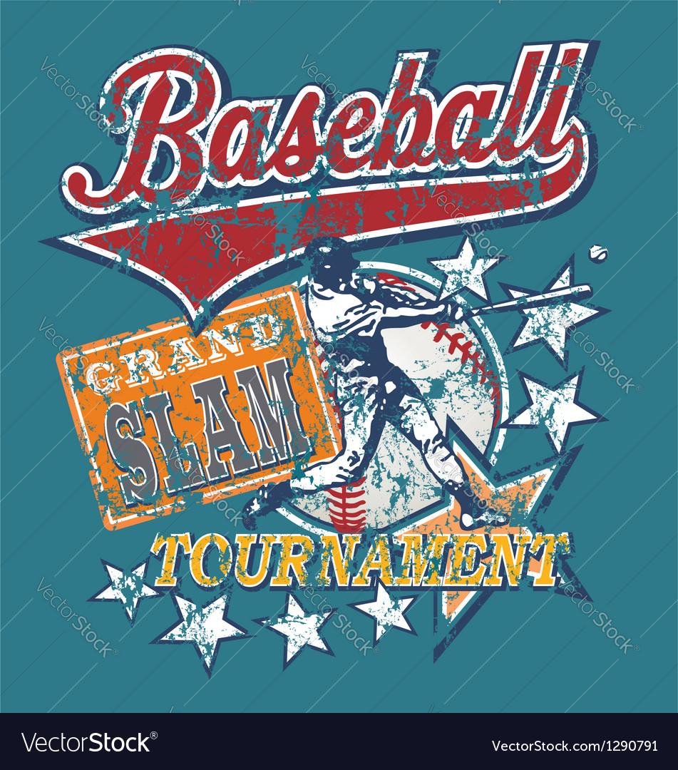 Baseball Grandslam vector image