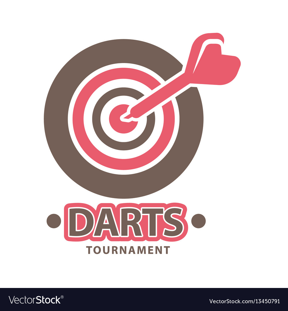 Darts championship logo template