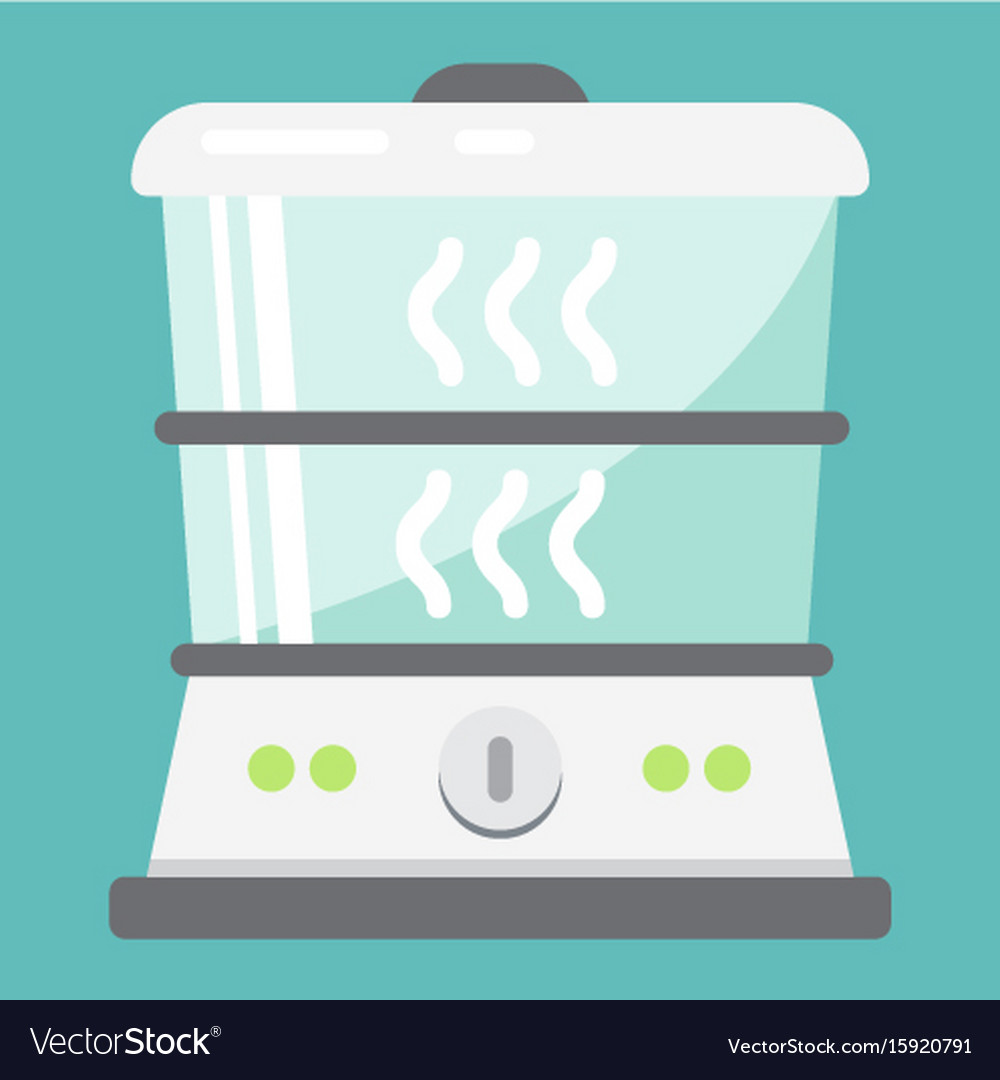 Food steamer flat icon kitchen and appliance Vector Image