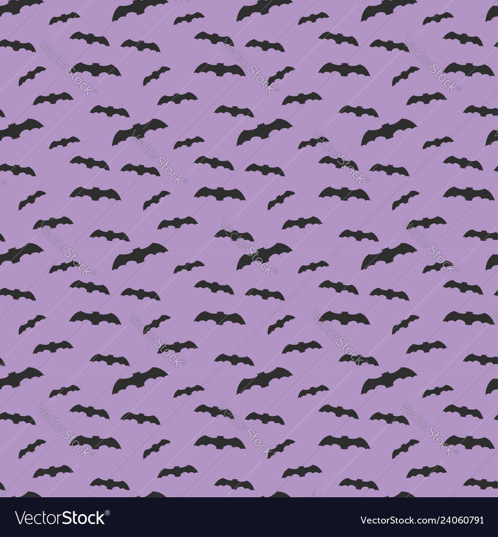 Seamless pattern violet background with bat