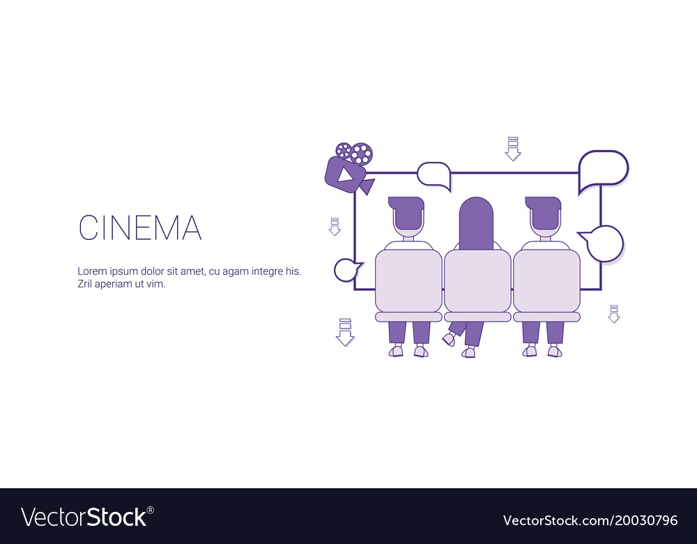 Cinema web banner with copy space leisure time