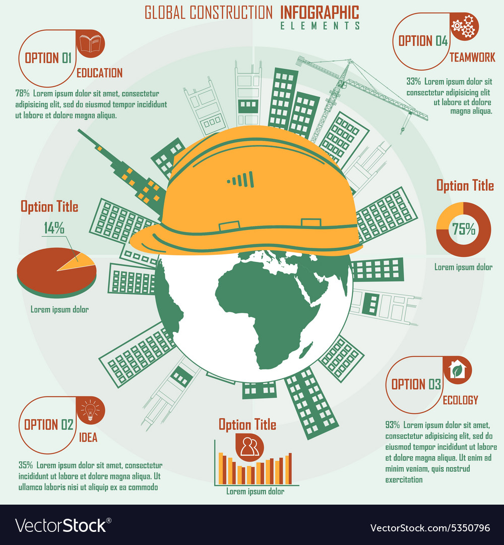 Construction infographics vector image