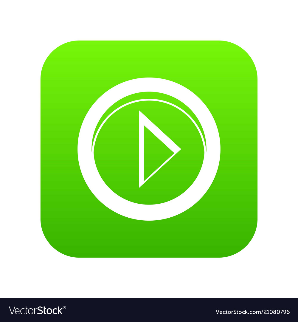 Cursor to right in circle icon digital green