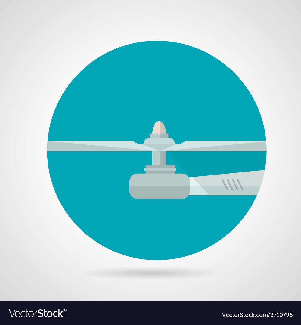 Drone propeller flat icon