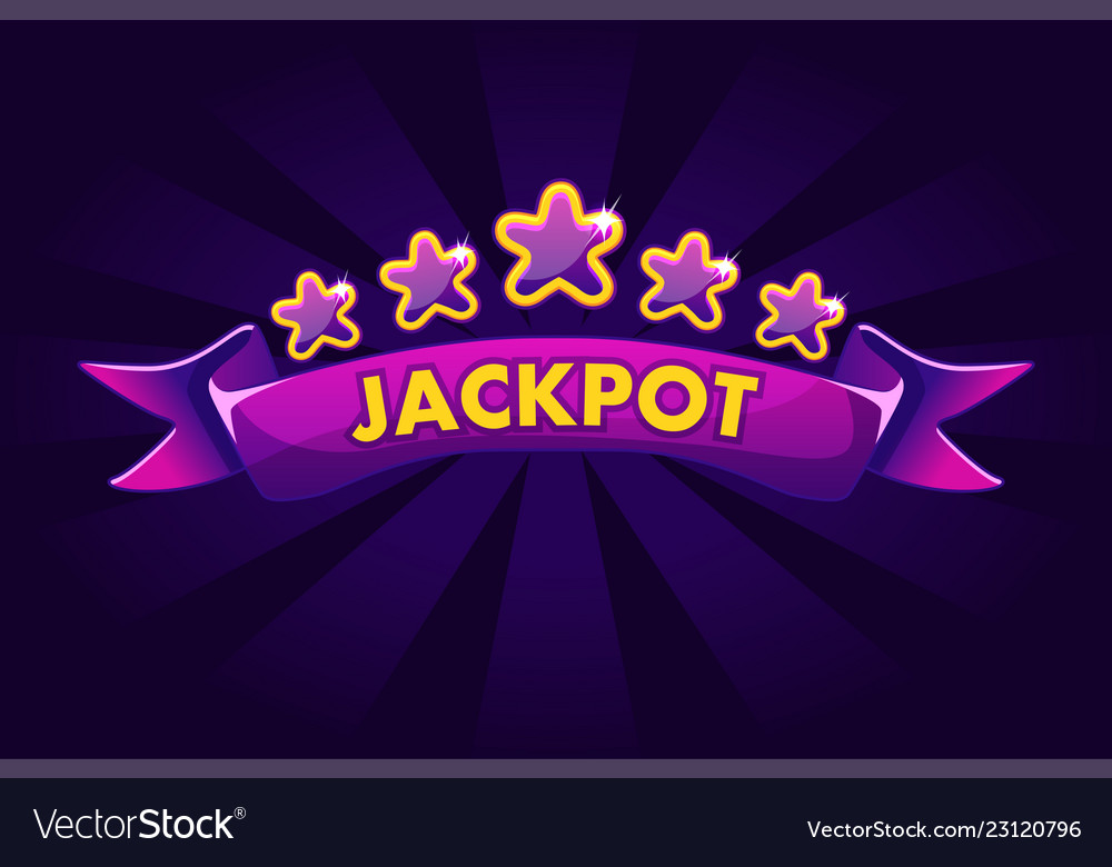 Jackpot banner background for lottery or casino