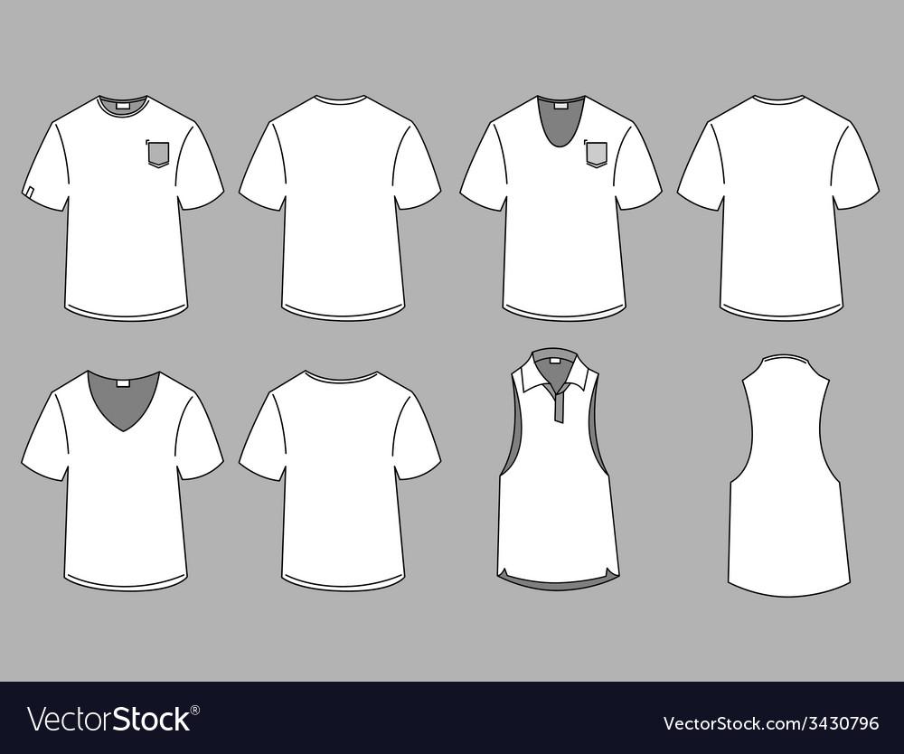 Mans Tshirt Design Template Royalty Free Vector Image - T shirt artwork template