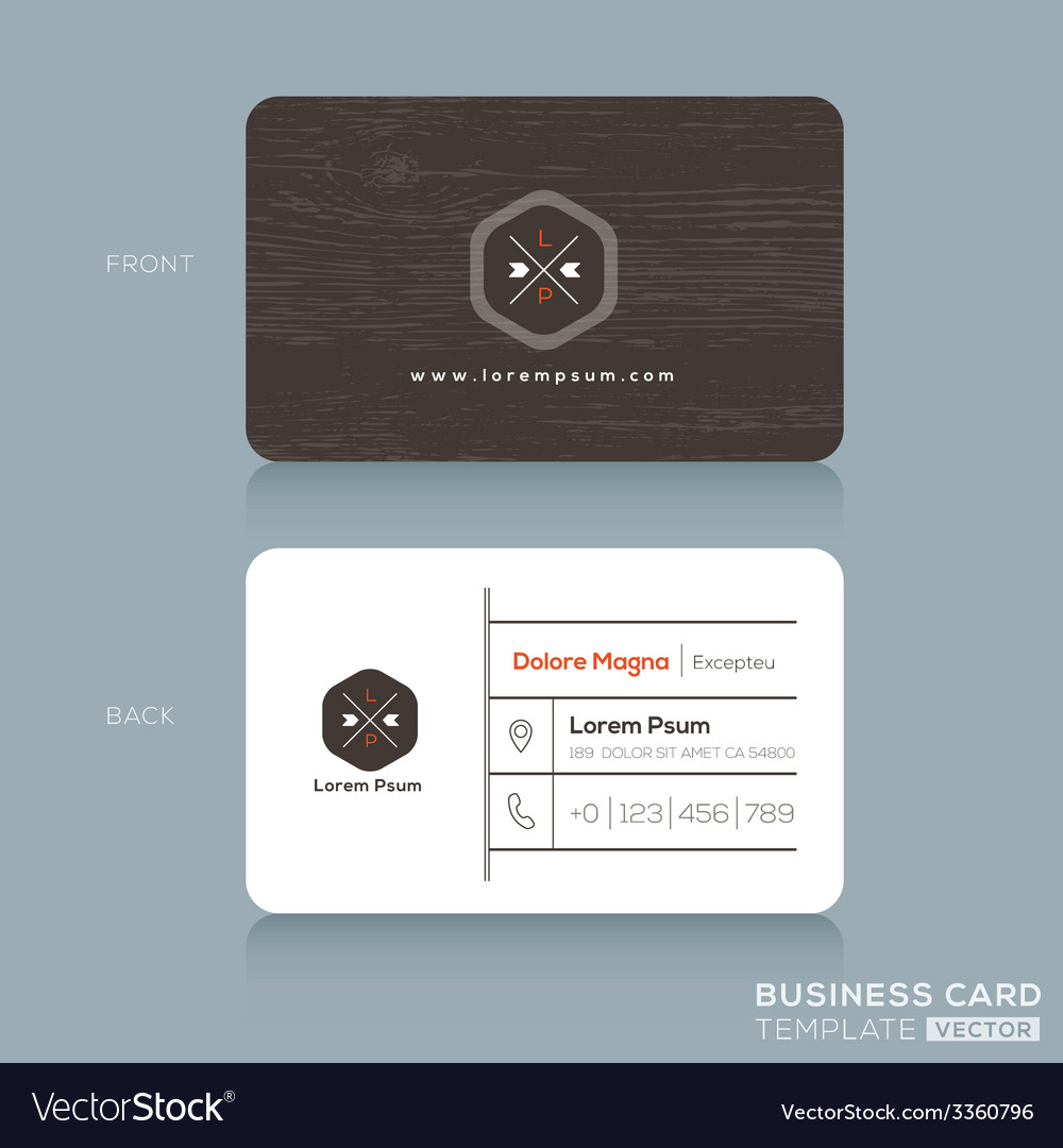 Modern business card design template royalty free vector modern business card design template vector image friedricerecipe Gallery