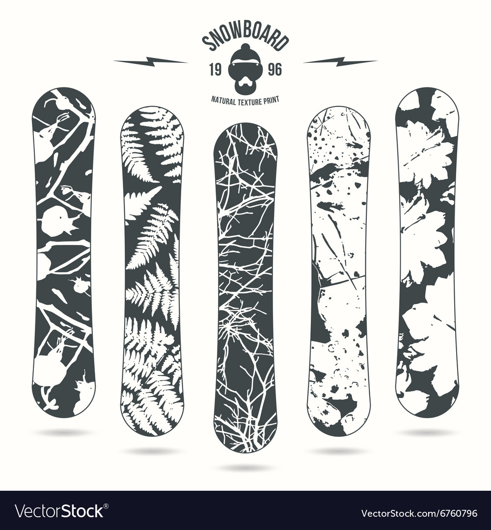 Natural texture print for snowboard vector image
