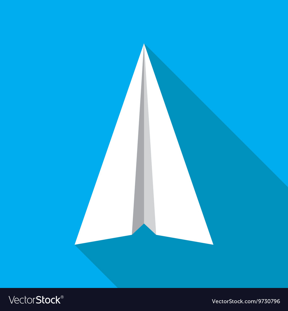 paper plane flat icon paper origami airplane vector image rh vectorstock com paper airplane vector image paper airplane vector free