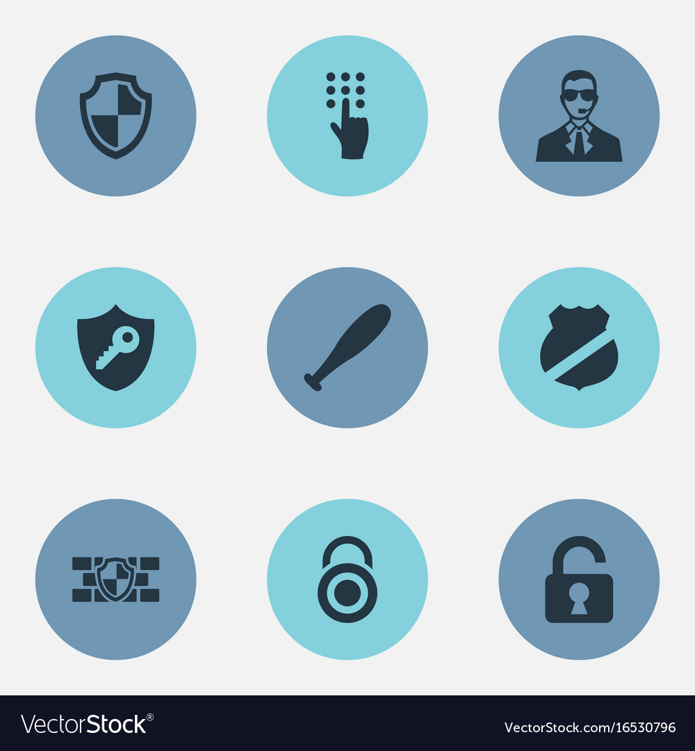 Set of simple security icons