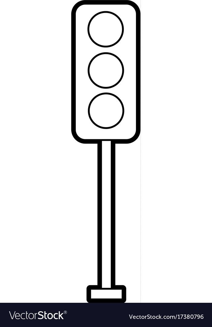 Картинка светофора раскраски что линия