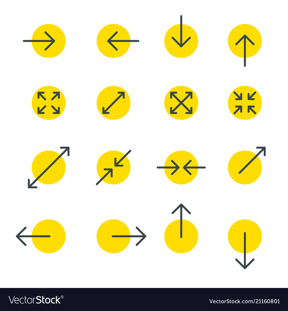 Arrow line collection touch screen gestures icons