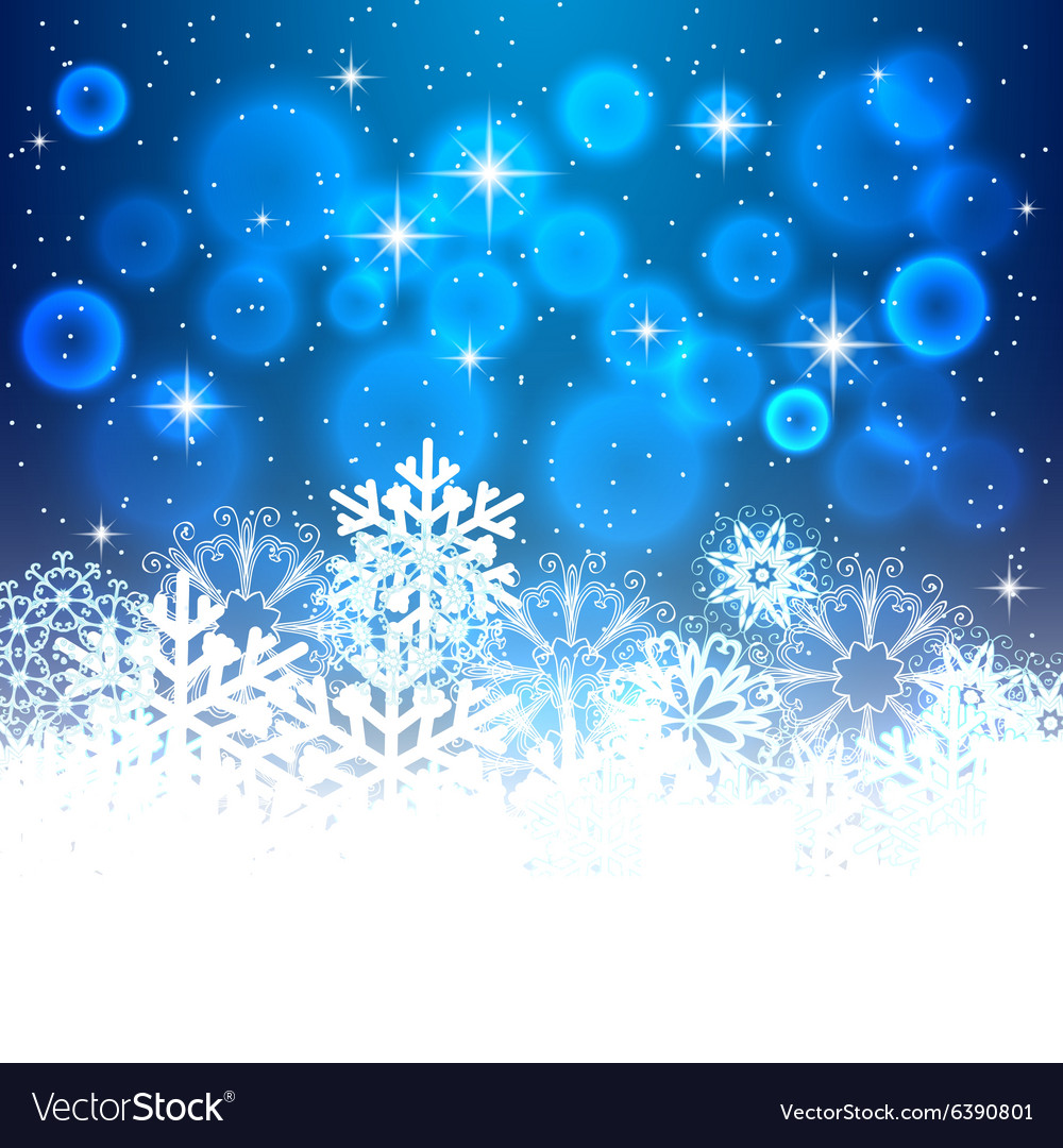 Blue Christmas background with space for text