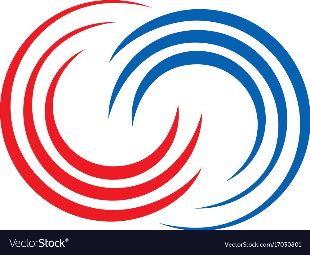 Circle connection swirl logo