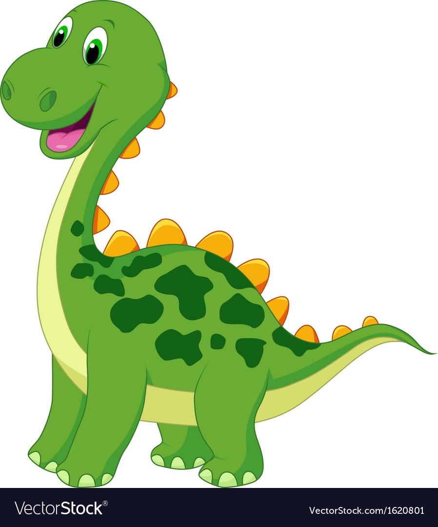 Image of: Png Cute Green Dinosaur Cartoon Vector Image Vectorstock Cute Green Dinosaur Cartoon Royalty Free Vector Image