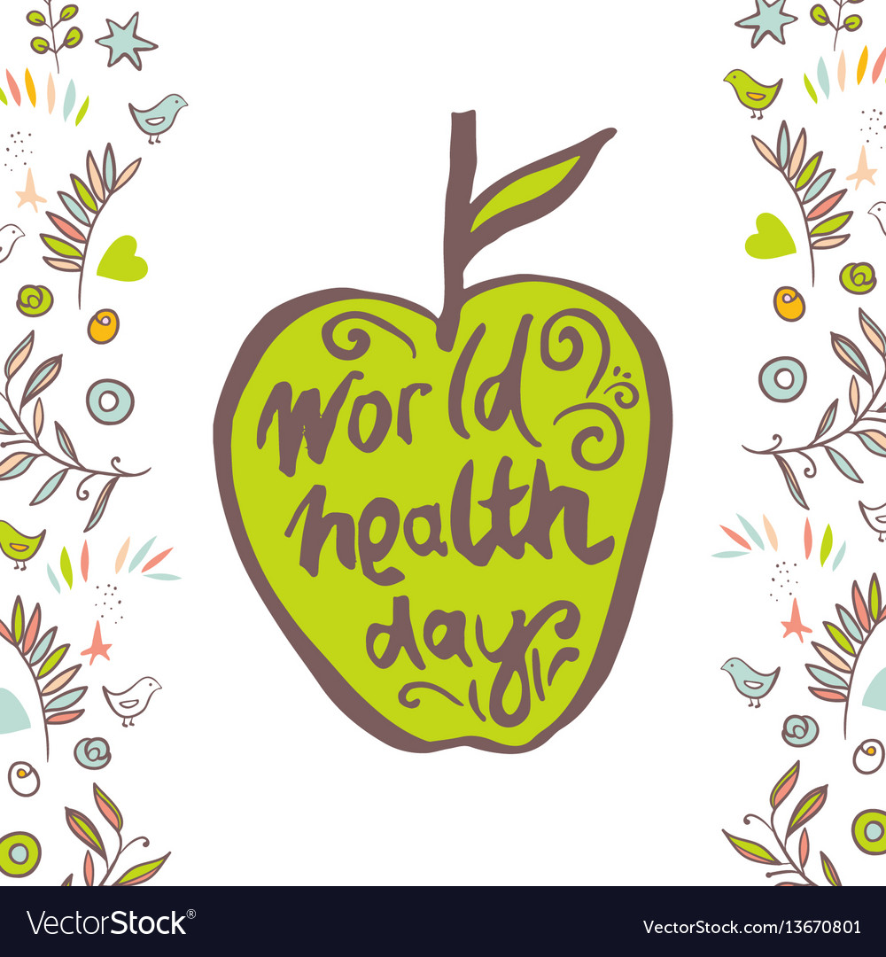 Greeting Card Of The World Health Day Royalty Free Vector