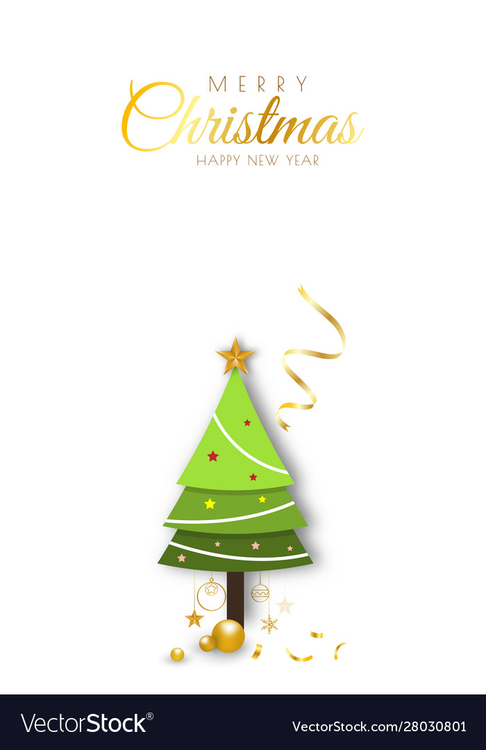 Merry christmas background minimal decorative vector