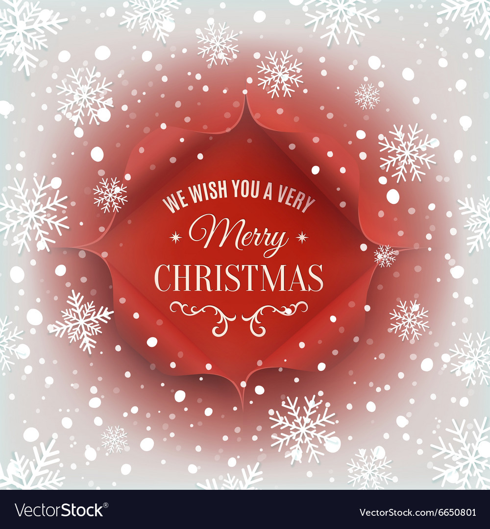 Merry christmas greeting card template royalty free vector merry christmas greeting card template vector image m4hsunfo