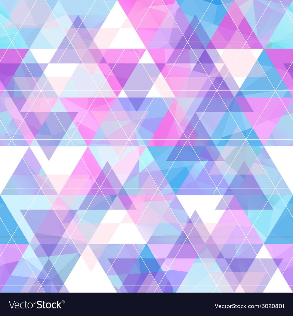 Seamless bright geometric retro background vector image