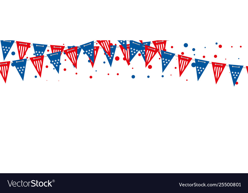 The usa flags banner triangle american
