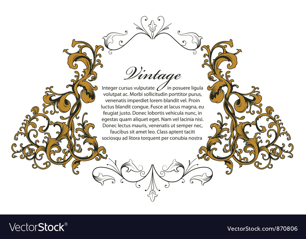 Floral Ornament Vector Free: Baroque Floral Ornament Royalty Free Vector Image